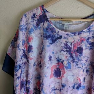 5b8de9f97ab Ava   Viv Tops - Ava   Viv Floral Flutter Sleeve Top
